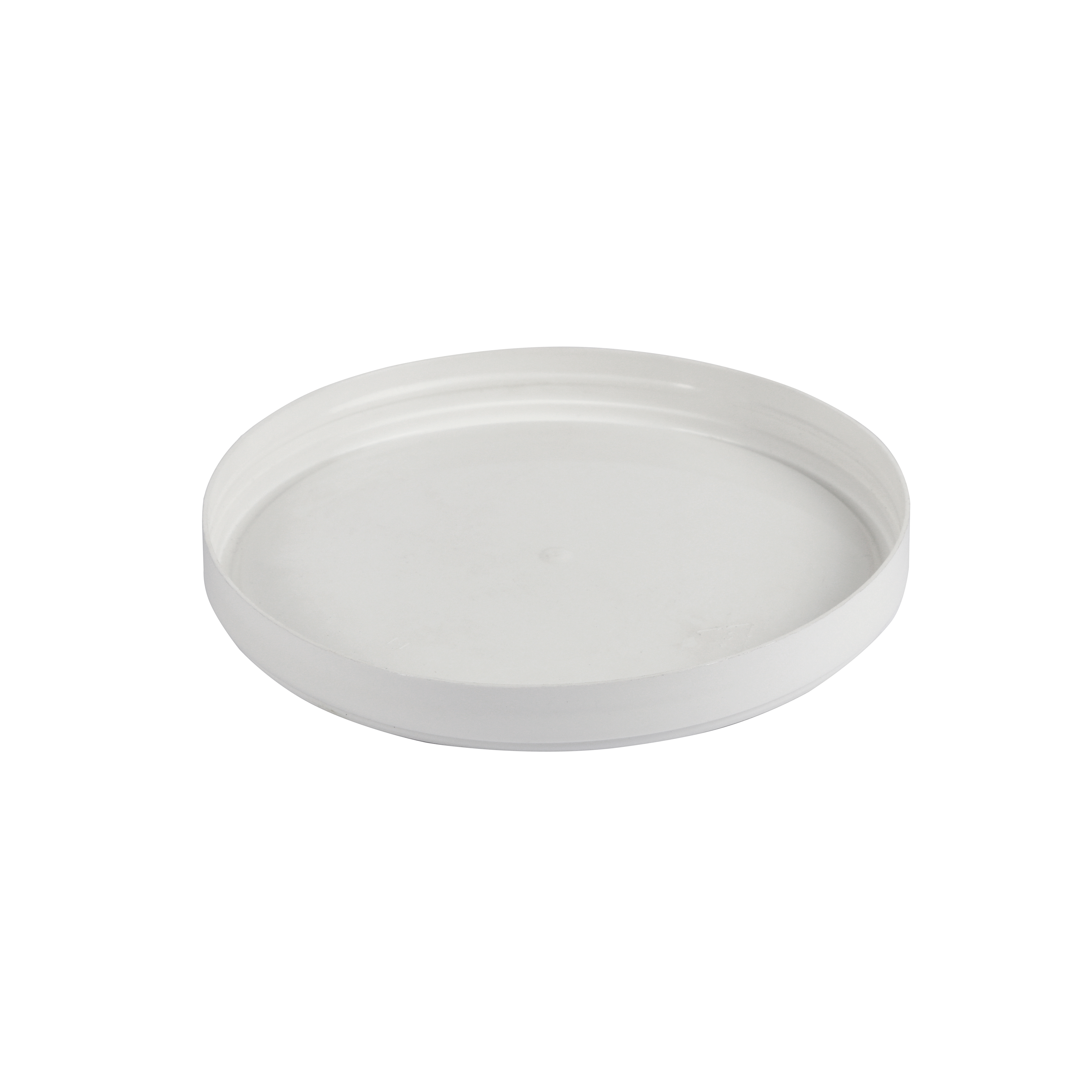 PP lid 110 mm for cardboard cups and buckets. Polymeric  lid for  popcorn buckets