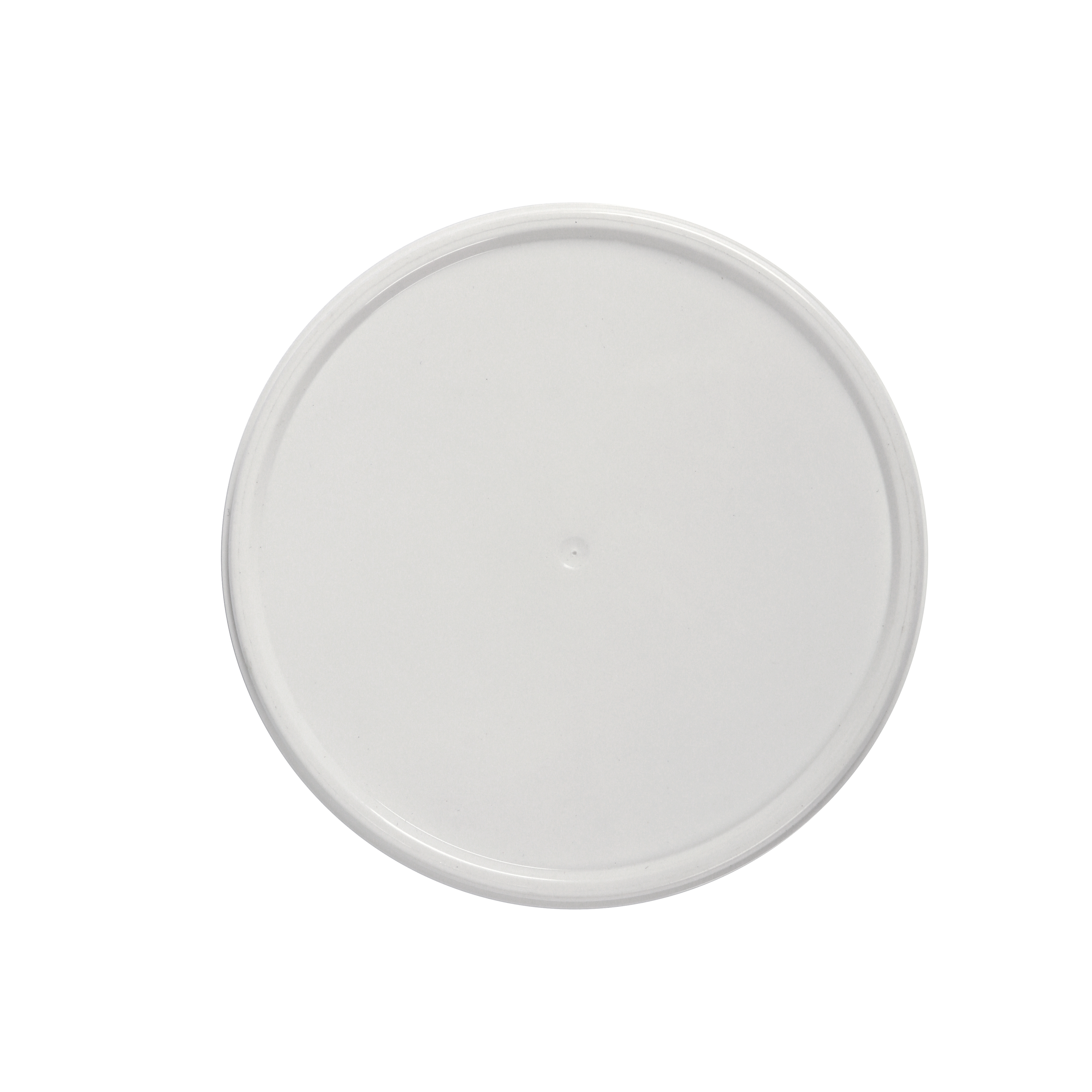 Plastic lid for cardboard cup - 110 mm diameter. Lid  for big buckets of ice cream