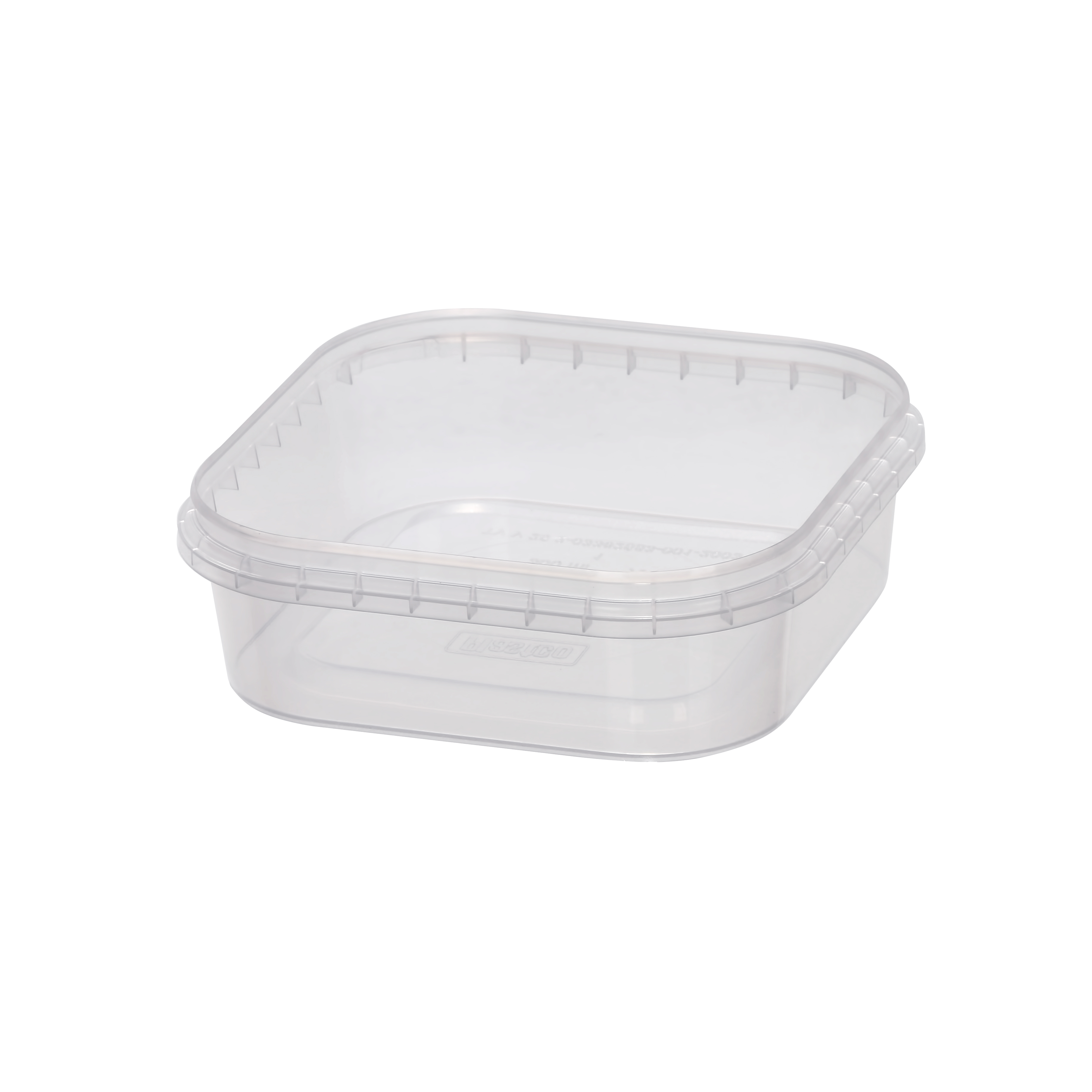 Plastic food container 300 ml for preserves, pickles , salads.  PP containers for food