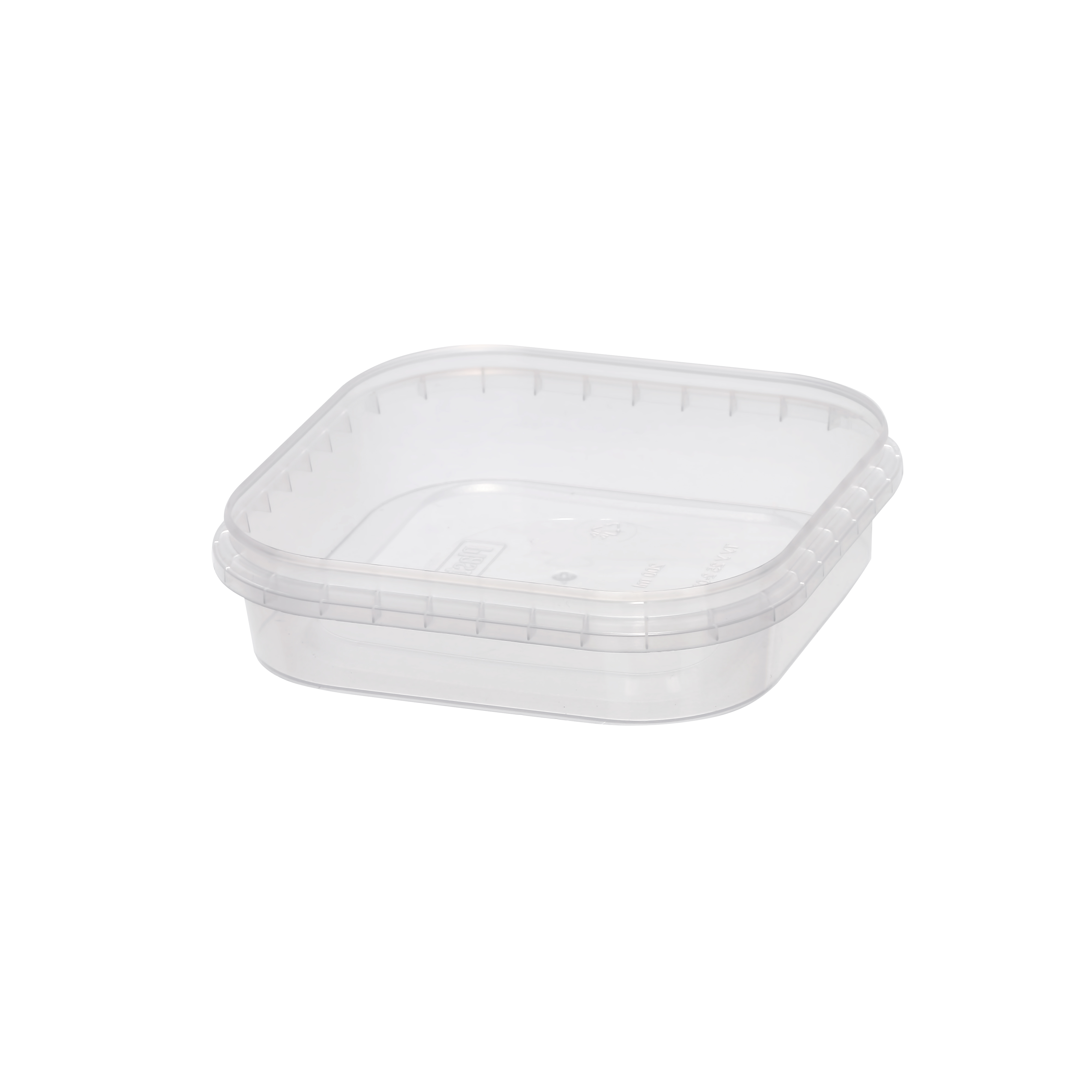 Polymeric (PP) food containers 200 ml. Polypropylene food container with tamper evident control
