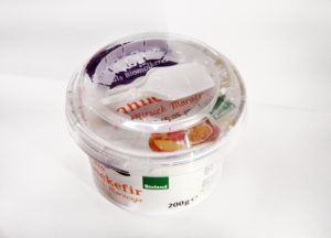 PP spoon in lid closure is a big competitive advantage among other companies. Lid with PP spoon